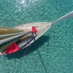 Blick vom Mast nach unten bei Korfu Segeln