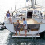 Angeln auf der Badeplattform bei Korfu Segeln