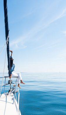 Seekrankheit hat bei Korfu Segeln keine Chance
