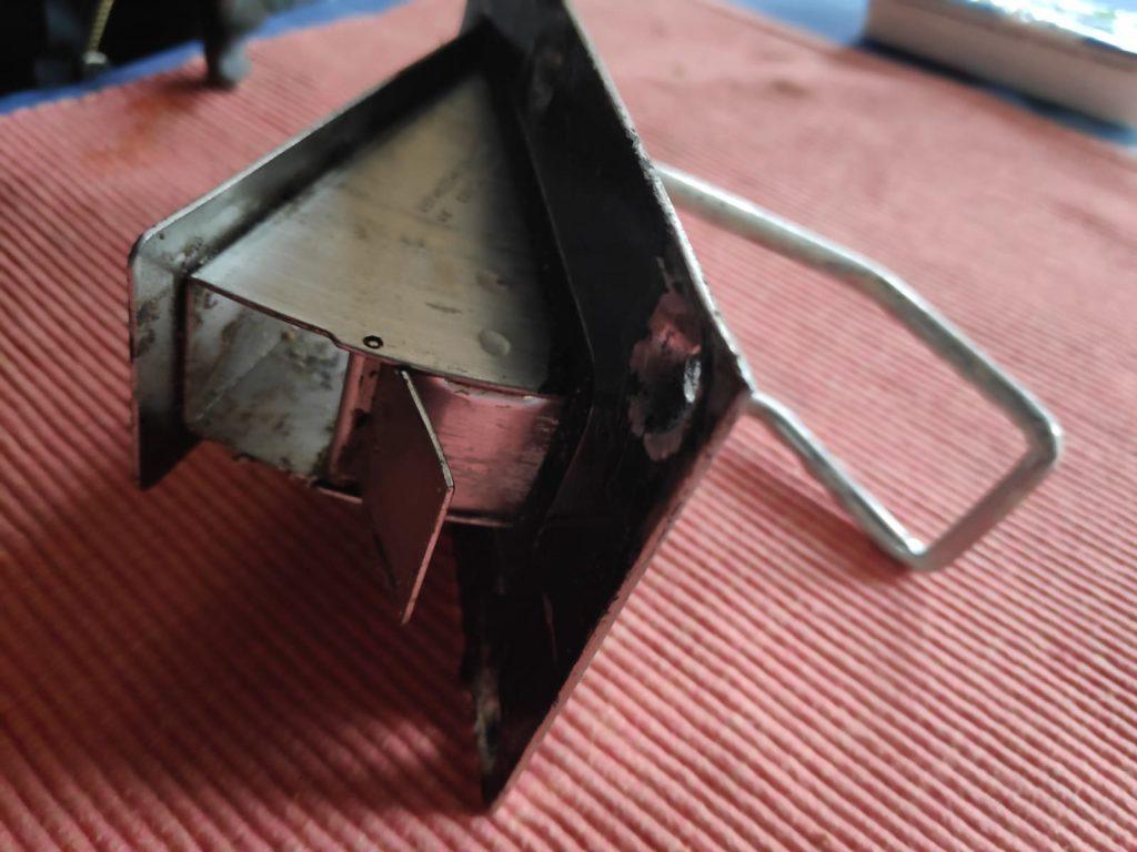 Das alte Lenzventil ausgebaut. Leider war es nicht mehr richtig dicht. So kann man nicht ordentlich Lenzen.