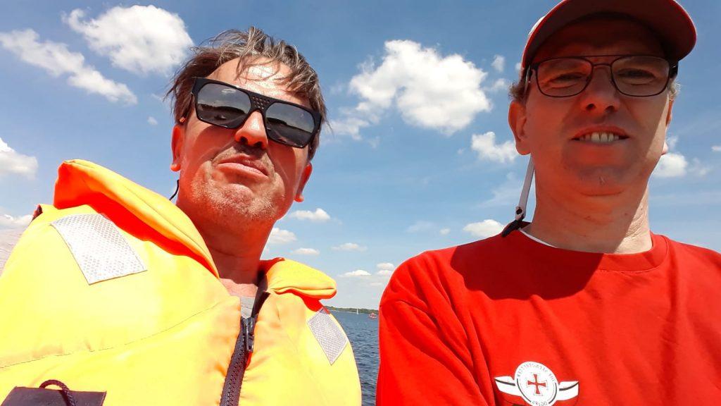 Martin und Holger nach bestandener Prüfung