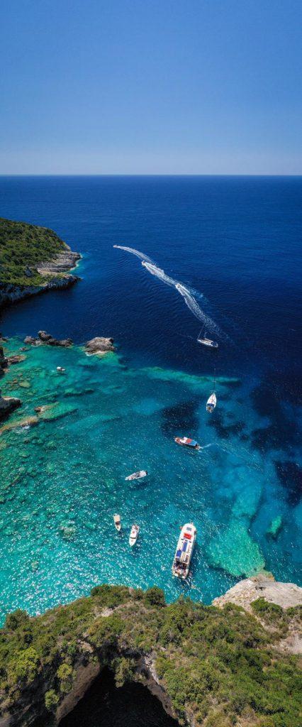 Flottille, Korfu-Segeln-Flottille, Korfu-Segeln, Flottillensegeln, Segeln, Korfu, Paxos, Blaue Grotten
