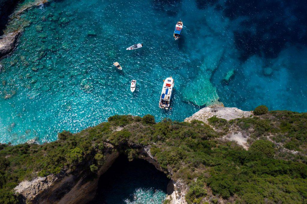 Flottille, Korfu-Segeln-Flottille, Korfu-Segeln, Flottillensegeln, Segeln, Korfu, Paxos, Höhlen