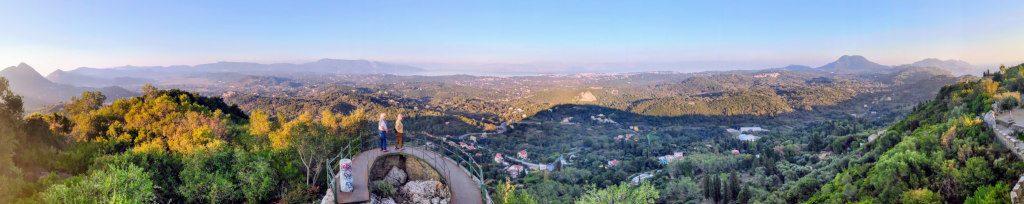 Kaisers Throne mit einem schönen Panorama über Korfu