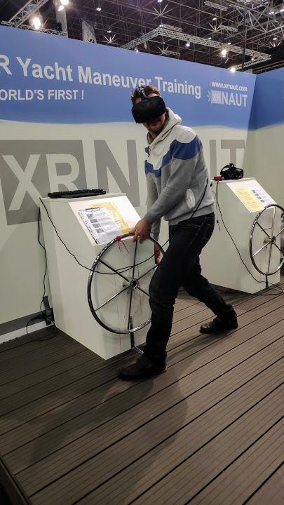 Korfu Segeln bei der Boot Düsseldorf virtuelles Manöver Trainung