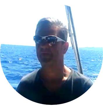 Tomas beim Maennertoern von Korfu Segeln