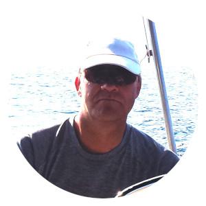 Torsten beim Männertörn von Korfu Segeln