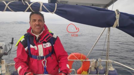MOB - Mann über Bord Manöver beim Schwerwetter-Training von Korfu Segeln beim Karnevalstörn zum Karneval im Ionischen Meer