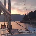 Abendstimmung auf der Bavaria Cruiser 45 Anna bei Korfu Segeln