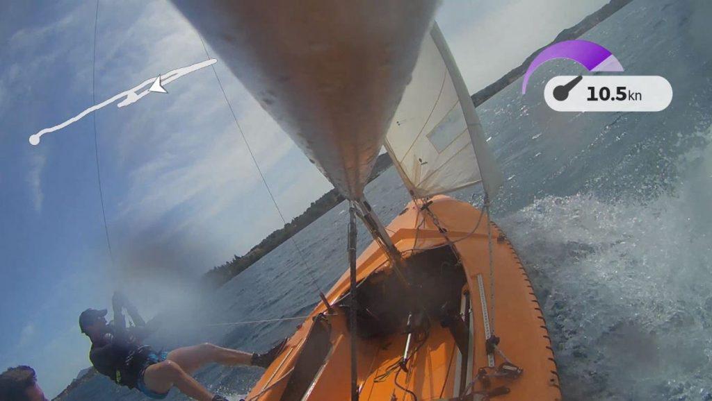 Segeln nach Lazareto, Korfu mit meinem Ixylon und Fabien