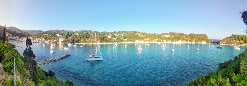 Morgenstimmung in Lakka (Paxos) bei Corona sicheren Urlaub vor Korfu