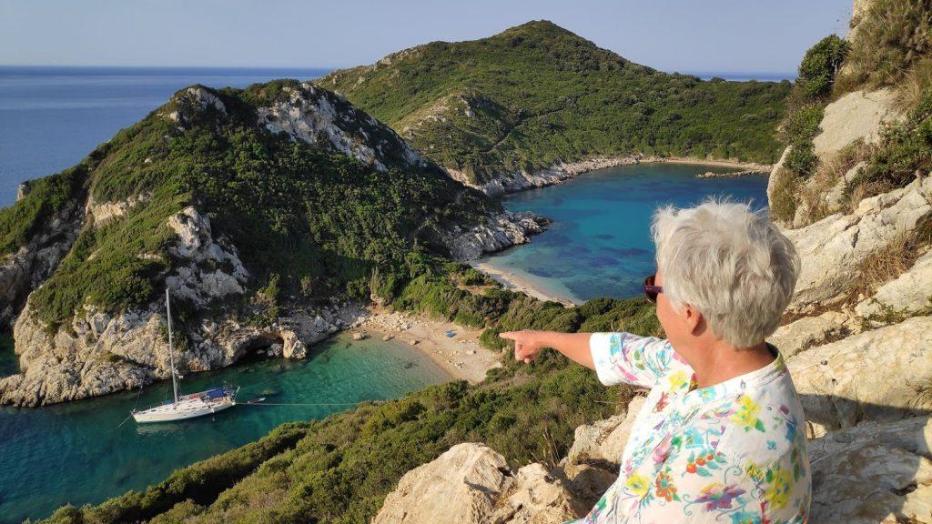 Rund Korfu am Morgen vor Porto Timoni