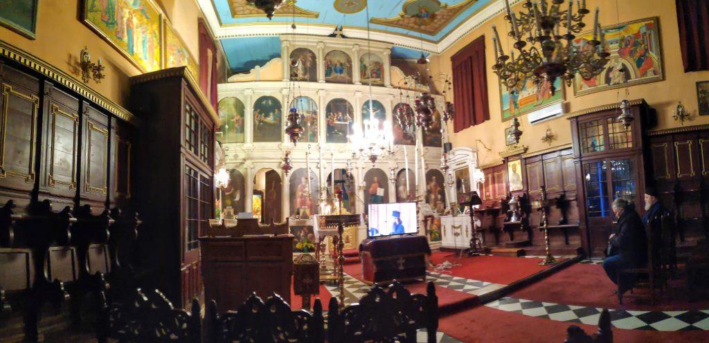 Die Kirche Analipsi in Gaios von Innen