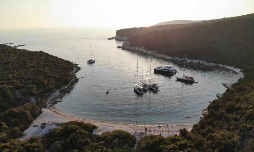 Häfen und Ankerplätze und die schönsten Buchten rund um Korfu hier meine Lieblingsbucht in den Nördlichen Ionischen Inseln