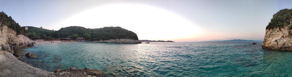 Vrika Strand auf Antipaxos menschenleer