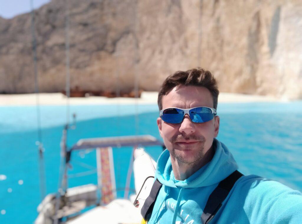 Wreck Bay Zakynthos Navagio Selfie beim Überführungstörn