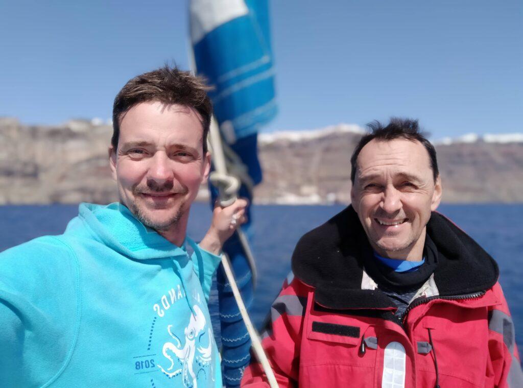 Segeltörn quer durch Griechenland vorbei an Santorin