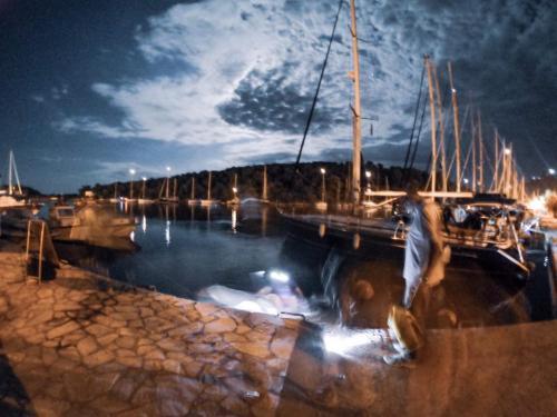 Korfu_Segeln_Flottille Abendstimmung am Pier