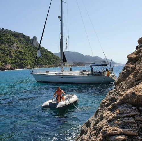 Rund Korfu Felsen Agios Giordios kurze Paddeltour