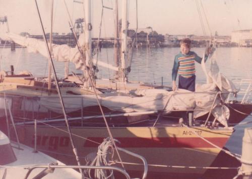 Skipper Korfu Mathias als Teenager auf der Ostsee